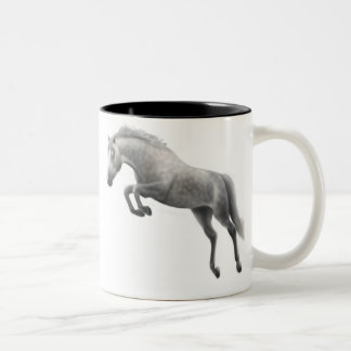 Taza gris de salto del caballo