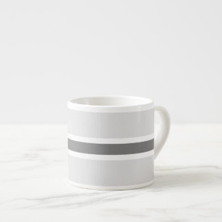 Taza gris del café express de la raya taza espresso