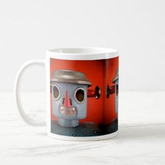 Taza gris del robot