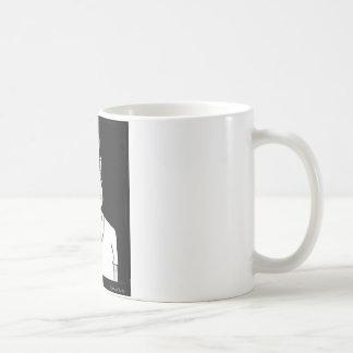 Taza gris vieja del tipo
