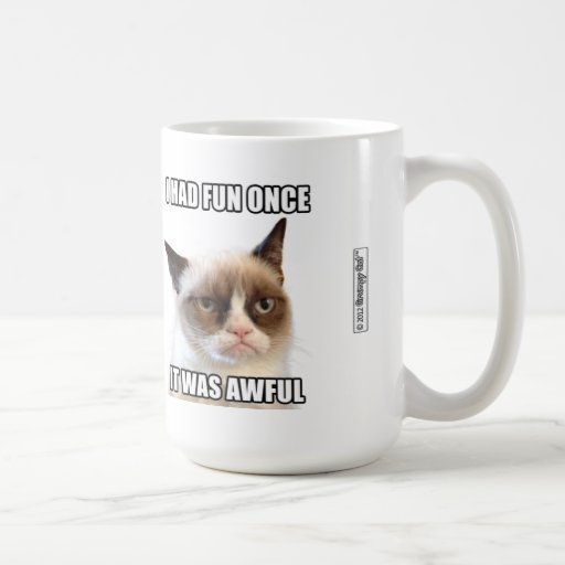 "Taza gruñona de Cat™ - ""me divertía una vez. Era t"