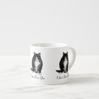 Taza gruñona del café express del gato taza espresso