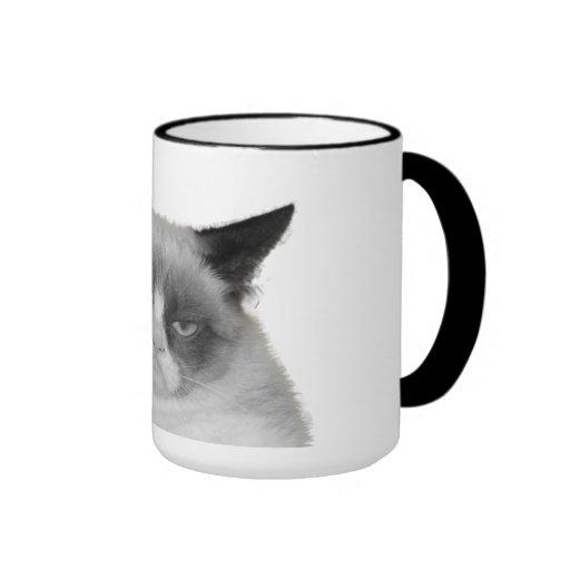 Taza gruñona del gato (ningún texto)