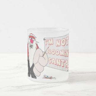 Taza gruñona del vidrio esmerilado de Santa