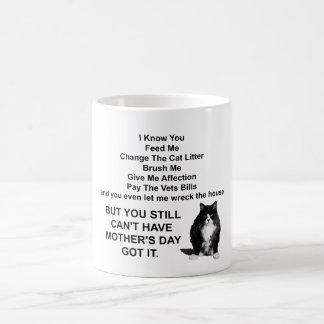 Taza gruñona divertida del día de Cat Mother