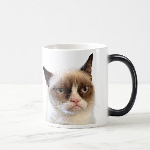 Taza gruñona original del gato