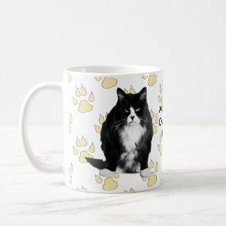 Taza gruñona personalizada del gato/impresión