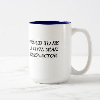 TAZA, guerra civil Taza De Café De Dos Colores