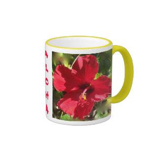 Taza hawaiana del hibisco