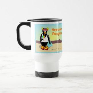 Taza hawaiana del viaje del pingüino