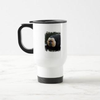 Taza hecha frente blanca del viaje del mono de Sak