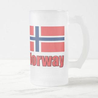 taza helada 16oz Noruega \ bandera