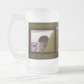 Taza helada acogedora chartreuse elegante de té de