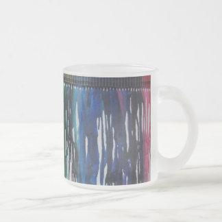 Taza HELADA arte derretida arco iris del creyón