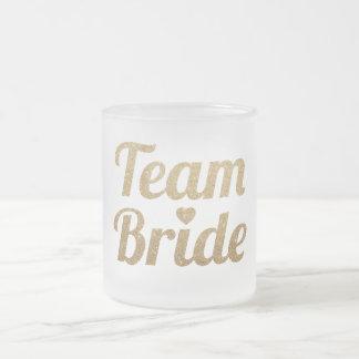 Taza helada Bachelorette de la novia del equipo