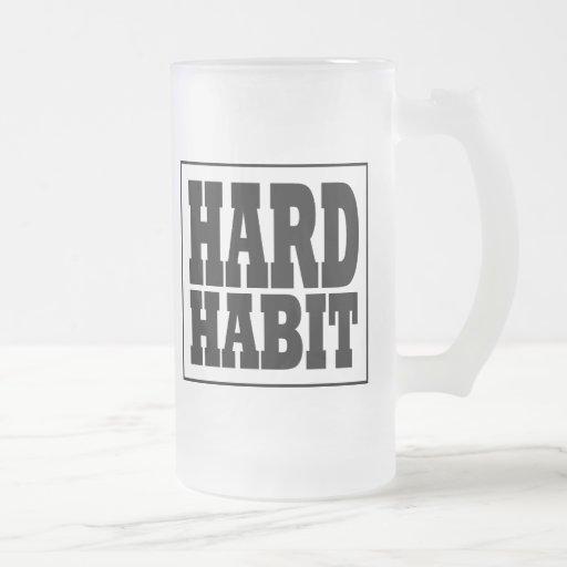 Taza helada banda dura del hábito