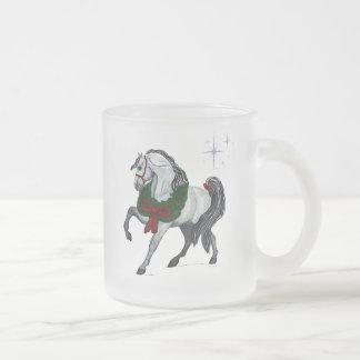 Taza helada caballo andaluz del navidad