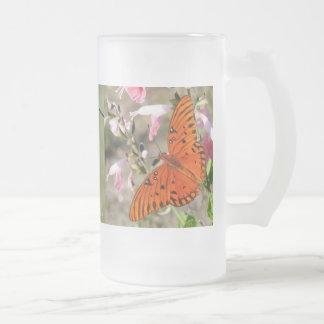 Taza helada ciclo vital de la mariposa del