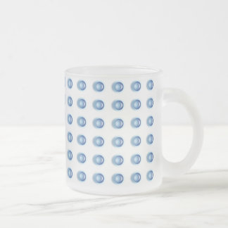 Taza helada con el LED azul