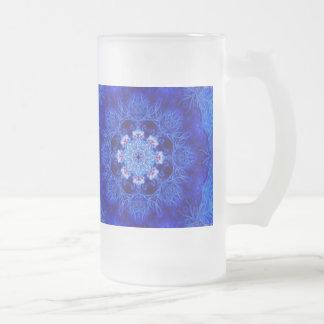 Taza helada coral del azul real