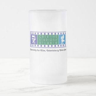 Taza helada CSA con el logotipo del color