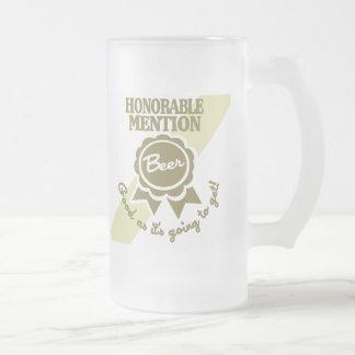 Taza helada de la mención honorable