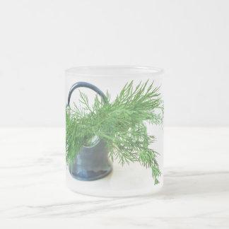 Taza helada de la planta