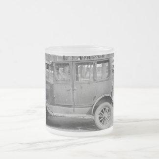 Taza helada del coche antiguo