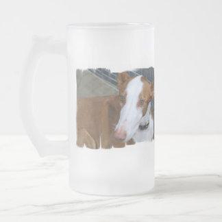 Taza helada del perro de Ibizan