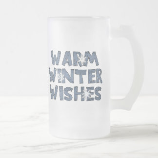 Taza helada deseos calientes del invierno