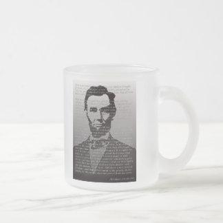 Taza helada dirección de Abraham Lincoln Gettysbur