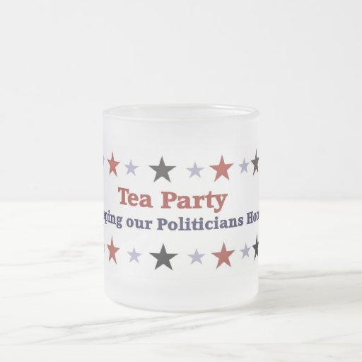 Taza helada engranaje político de la fiesta del té