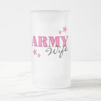 Taza helada esposa del ejército de las rosas