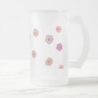 Taza helada flor de neón
