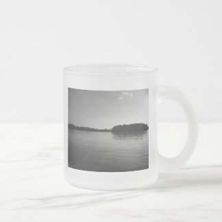 Taza helada fotografía del paisaje del lago minnes