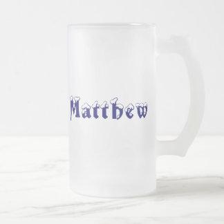 Taza helada Matthew-Nombre
