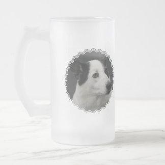 Taza helada perro blanco y negro de Canaan