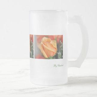Taza helada rosa anaranjado