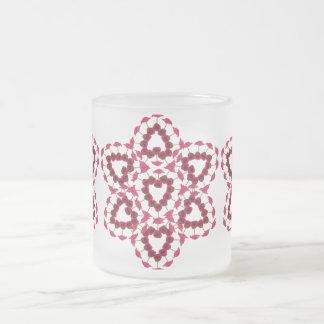 Taza helada rosa de la tarjeta del día de San