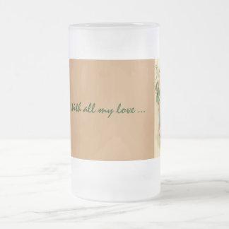 Taza helada vintage romántico