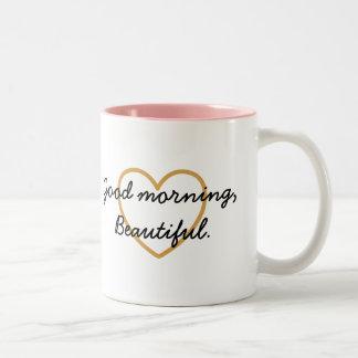 Taza hermosa de la buena mañana - tenga un día her