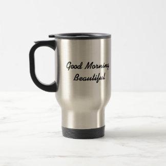 Taza hermosa del viaje de la buena mañana