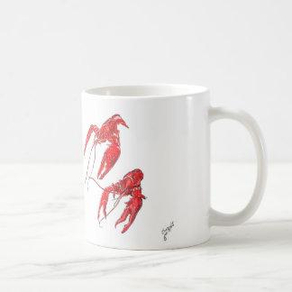 Taza hervida de los cangrejos