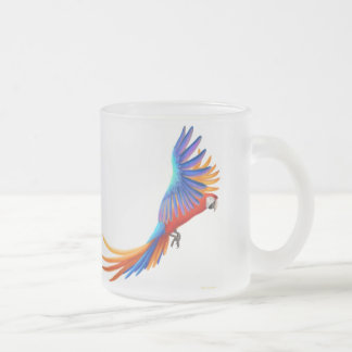 Taza híbrida del vidrio esmerilado del Macaw de