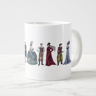 Taza histórica del jumbo de Jane Austen de la moda Taza Grande