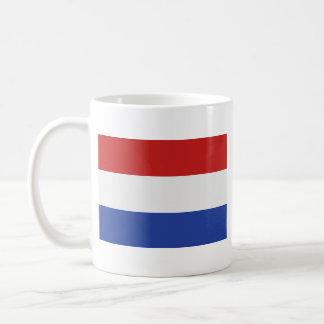 Taza holandesa del mapa del ~ de la bandera