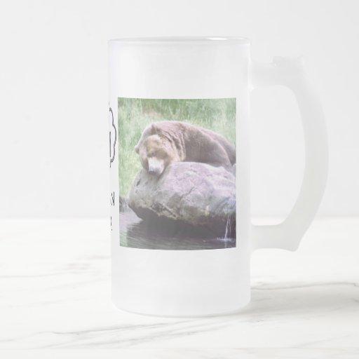Taza ideal del oso de la piscina