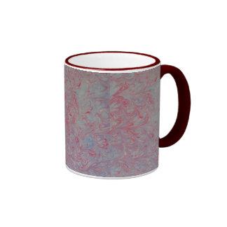 taza ideal roja del arte que vetea