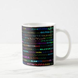 Taza II del diseño I del texto de Olivia