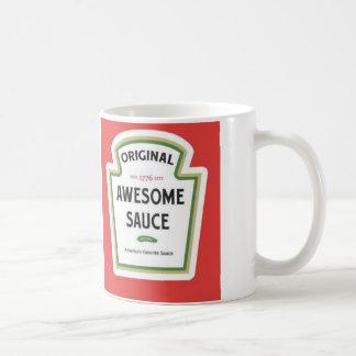 Taza impresionante de la salsa